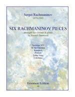 RACHMANINOV - Six Rachmaninov Pieces - Sheet Music - di-arezzo.co.uk