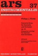 Philipp Jakob Riotte - Concerto B-Dur op. 24 - Klarinette Klavier - Partition - di-arezzo.fr
