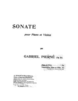 Gabriel Pierné - Sonata op. 36 - Sheet Music - di-arezzo.co.uk