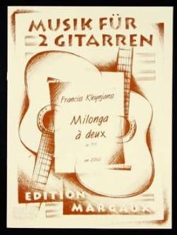 Francis Kleynjans - Milonga à deux op. 156 - Partition - di-arezzo.fr