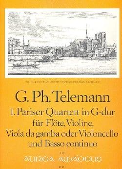 TELEMANN - Pariser Quartett Nr. 1 G-Dur - Flute Violine Viola da gamba BC - Sheet Music - di-arezzo.co.uk