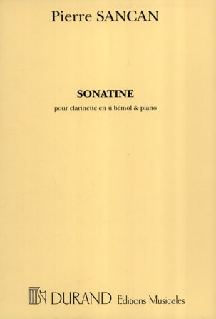 Pierre Sancan - Sonatine for clarinet and piano - Sheet Music - di-arezzo.co.uk
