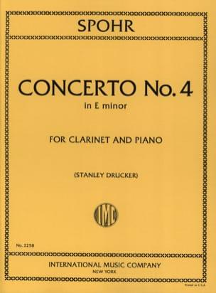 Concerto Clarinette n° 4 mi mineur SPOHR Partition laflutedepan