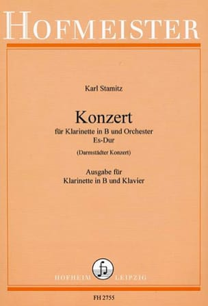 Konzert Es-Dur Darmst. Kzt. - Klarinette Klavier STAMITZ laflutedepan