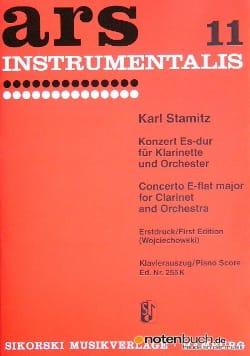 Konzert Es-Dur - Klarinette Klavier STAMITZ Partition laflutedepan