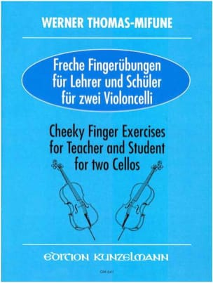 Werner Thomas-Mifune - Cheeky Finger Exercises - 2 Violoncelles - Partition - di-arezzo.fr