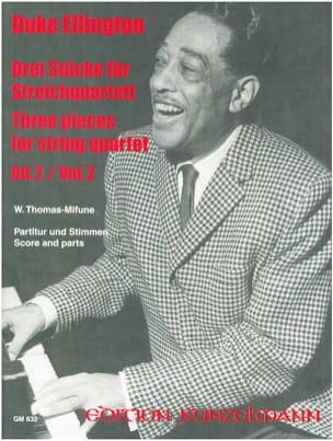Duke Ellington - 3 Pieces for String Quartet, Volume 2 – Score + Parts - Partition - di-arezzo.fr
