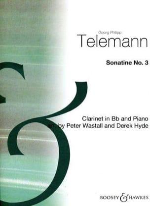 Georg Philipp Telemann - Sonatine n° 3 – Clarinette - Partition - di-arezzo.fr