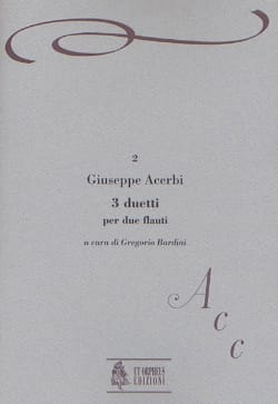 Giuseppe Acerbi - 3 Duetti - 2 Flauti - Partition - di-arezzo.fr