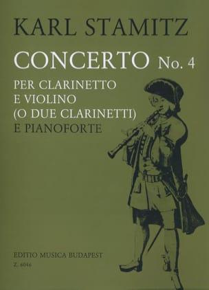 Concerto n° 4 - Clarinette, violon et piano STAMITZ laflutedepan