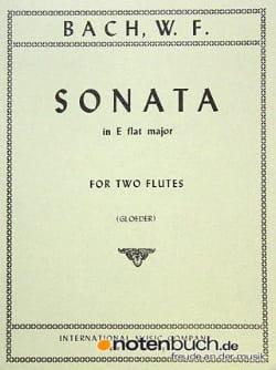 Sonata E Flat Major - 2 Flutes Wilhelm Friedemann Bach laflutedepan