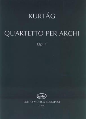 György Kurtag - Quartetto per archi op. 1 - Parte - Sheet Music - di-arezzo.co.uk