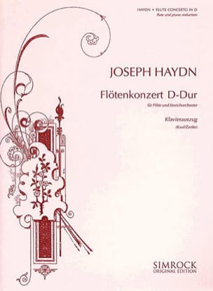 HAYDN - Konzert D-Dur - Flöte Klavier - Partition - di-arezzo.fr