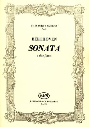 BEETHOVEN - Sonata - 2 flauti - Sheet Music - di-arezzo.co.uk
