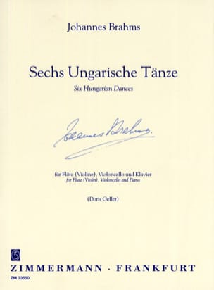 BRAHMS - 6 Ungarische Tänze - Sheet Music - di-arezzo.co.uk