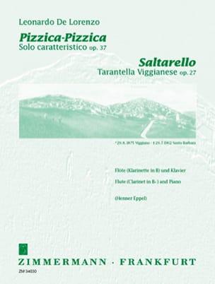 Leonardo De Lorenzo - Pizzica-Pizzica op. 37 / Saltarello op. 27 - Partition - di-arezzo.fr