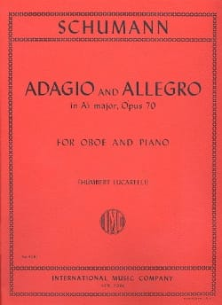 Adagio and Allegro op. 70 - Oboe piano SCHUMANN Partition laflutedepan