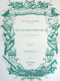 Michel Blavet - 6 Sonaten op. 1 - Bd. 1 – 2 Flöten (o. Oboen, Violinen) - Partition - di-arezzo.fr