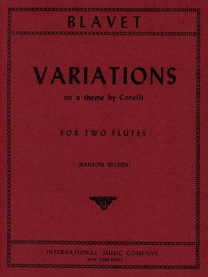 Variations - 2 Flûtes Michel Blavet Partition laflutedepan