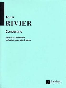 Concertino - Jean Rivier - Partition - Alto - laflutedepan.com