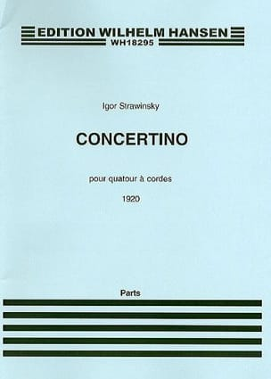 Igor Stravinsky - Concertino for string quartet - Parts - Sheet Music - di-arezzo.co.uk