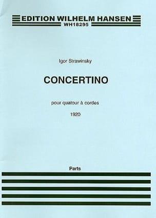 Igor Stravinsky - Concertino for string quartet – Parts - Partition - di-arezzo.fr