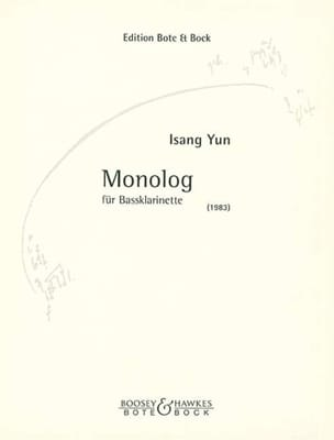 Isang Yun - Monolog 1983 - Bass Klarinette - Partition - di-arezzo.fr