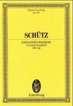 Johannes-Passion SCHUTZ Partition Petit format - laflutedepan