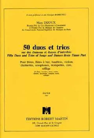 Marc Dijoux - 50 Duos et Trios - Partition - di-arezzo.fr