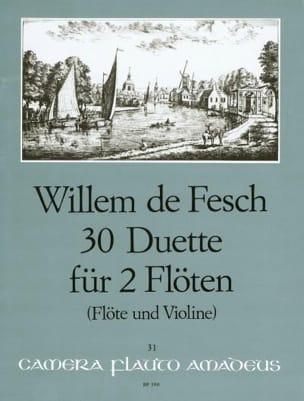 Willem de Fesch - 30 Duette op. 11 – 2 Flöten (o. Flöte u. Violine) - Partition - di-arezzo.fr