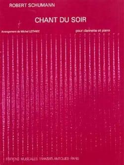 Chant du soir SCHUMANN Partition Clarinette - laflutedepan