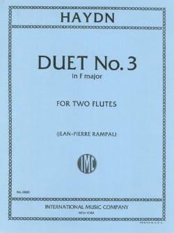 Duet N° 3 In F Major - 2 Flutes - HAYDN - Partition - laflutedepan.com