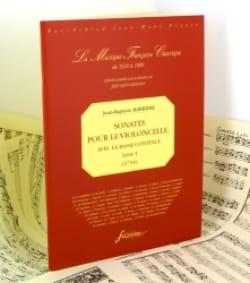 Jean-Baptiste Barrière - Sonates Pour le Violoncelle Livre 1 - Partition - di-arezzo.fr