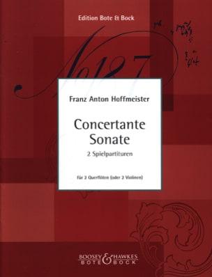Franz Anton Hoffmeister - Concertante Sonate - 2 Flûtes (Ou 2 Violons) - Partition - di-arezzo.fr
