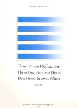 3 Duos op. 20 – 2 Flöten - Franz Anton Hoffmeister - laflutedepan.com