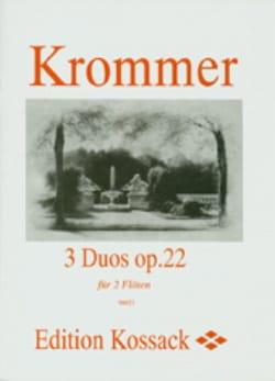 Franz Krommer - 3 Duos op. 22 - 2 Flöten - Partition - di-arezzo.fr