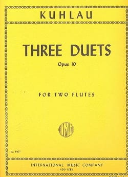 Friedrich Kuhlau - 3 Duets op. 10 - 2 Flutes - Sheet Music - di-arezzo.co.uk