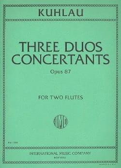Friedrich Kuhlau - 3 konzertierte Duette op. 87 - 2 Flöten - Noten - di-arezzo.de