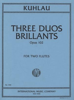 3 Duos brillants op. 102 - 2 Flûtes Friedrich Kuhlau laflutedepan