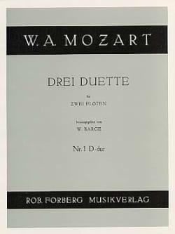 3 Duette - Nr. 1 D-Dur - 2 Flöten MOZART Partition laflutedepan