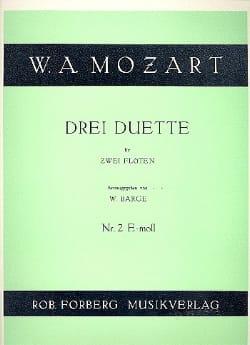 3 Duette - Nr. 2 e-moll – 2 Flöten - MOZART - laflutedepan.com
