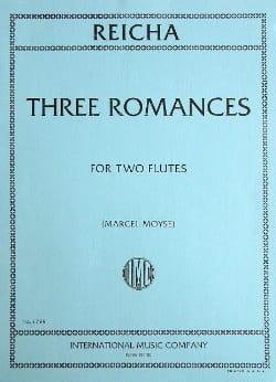 3 Romances op. 21 - 2 Flûtes Anton Reicha Partition laflutedepan