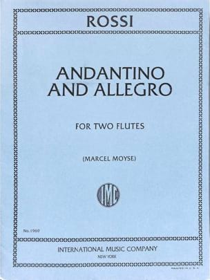Andantino and Allegro - Michael Angelo Rossi - laflutedepan.com