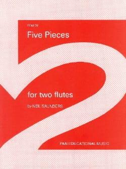 5 Pieces - 2 Flutes - Neil Saunders - Partition - laflutedepan.com