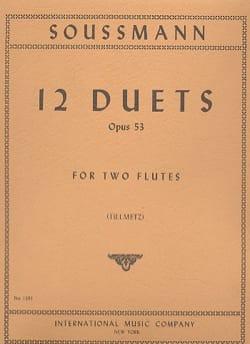 12 Duets op. 53 - 2 Flutes - H. Soussmann - laflutedepan.com