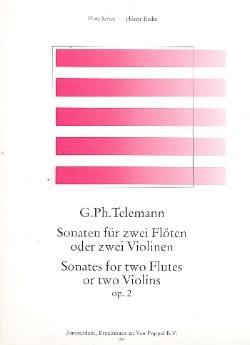 Sonates Op. 2 - 2 Flûtes - TELEMANN - Partition - laflutedepan.com
