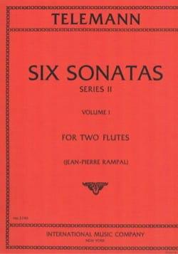 6 Sonatas Série 2, Volume 1 - 2 Flutes TELEMANN Partition laflutedepan