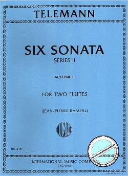 6 Sonatas Série 2, Volume 2 - 2 Flutes - TELEMANN - laflutedepan.com