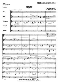 DEBUSSY - Reverie - Woodwind quintet - Score parts - Sheet Music - di-arezzo.co.uk