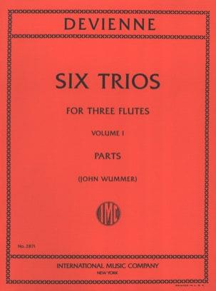François Devienne - 6 Trios Volume 1 - 3 Flutes - Partition - di-arezzo.fr